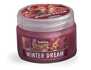 Bolsius Outdoor/Indoor Scented Candle in a Glass Jar with Lid 65x90mm - Winter Dream from Ivyline