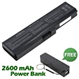 Battpit⢠Laptop / Notebook Battery Replacement for Toshiba Satellite Pro C660-2F9 (4400 mAh) with FREE 2600mAh Power Bank / External Battery (Black) for Smartphone.