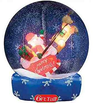 Inflatable christmas decorations for the yard for Outdoor christmas globes