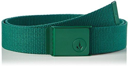 Volcom, Cintura Uomo Stone Web, Verde (Cedar Green), Taglia unica
