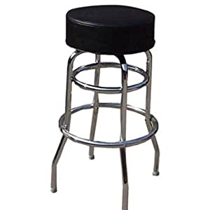 winco bar stool with black round seat cushion kitchen