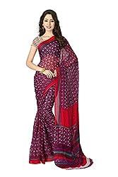 SSI Chiffon Saree (SSI JIN BLUE CHIFF_Purple Red)