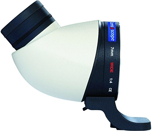 Lens2scope Oculaire renvoi coudé, grand champ 7mm Wide, pour Canon EOS, blanc