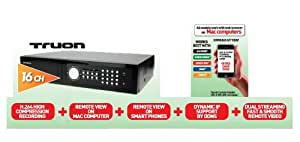 Real Time 16 Channel H.264 Security Camera Digital Video Recorder DVR, Mac support, full smart phone support, Dynamic IP Support NO HDD
