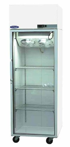 Freezer, Low Temperature with LED Display and Alarm, Glass Door, 22.5 cu ft with Casters, 115V/208-2