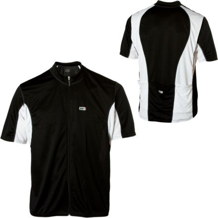 Buy Low Price Louis Garneau 2010/11 Men's Perfecto 2 Clydesdale Short Sleeves Cycling Jersey – Steel – 1020438-181 (B001OTO04I)