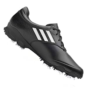 adidas Men's Adizero Tour Golf Shoe,Black/Running White/Black,10 M US