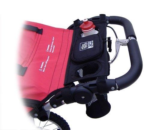 Tike Tech Single Stroller Water Bottle Holder, Black