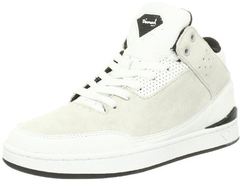 Diamond Supply Co. Marquise Men's Size 8 White/gray Leather