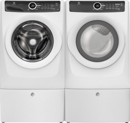 Electrolux White Front-Load Laundry Pair with EFLW417SIW 27