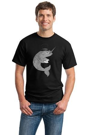 MR. FANCYPANTS SIR NARWHAL Adult Unisex T-shirt / Reddit Digg 4Chan Smug Whale