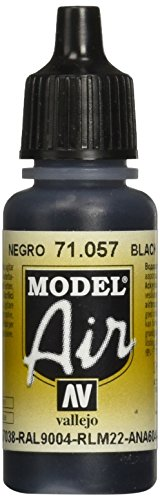 Vallejo Black Paint, 17ml (Vallejo Model Air compare prices)
