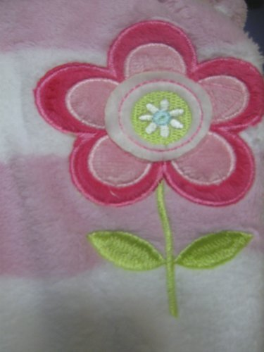 Sumersault Baby Girl Soft Flower Blanket - 1