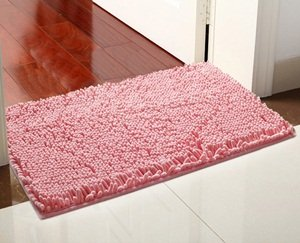 "KLOUD City ® Pink anti-slip microfiber carpet doormat bedroom kitchen area rug carpet (31"" x 20"")"