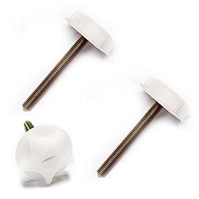 Headboard Bolts White Metal Screws With Strong Plastic Heads Divan Beds New