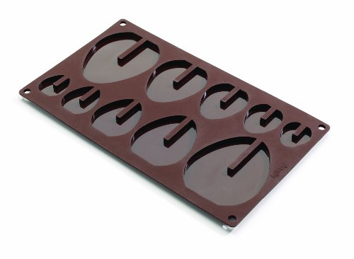 Lekue 3D Easter Eggs Mold, Brown