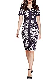 Per Una Cotton Rich Bloom Floral Shift Dress [T62-6658J-S]