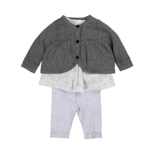 Best Price KANZ Baby Baby-Girls Infant 3 Piece Cardigan Set, Cloudburst, 12 Months