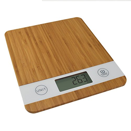 Smart Weigh Bamboo Digital Kitchen Scale