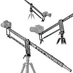 SUPON Mini Aluminum Retractable Portable Camera Crane Jib Rock Arm for Video Camcorder