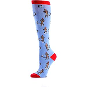 Yo-Sox Womans Knee High Sock - Monkeys