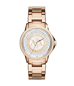 Armani Exchange AX4322 Rose Gold Stainless Steel Crystal Dial Ladies Watch