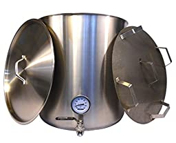 HomeBrewStuff 25 Gallon Stainless Mash Tun w/ False Bottom