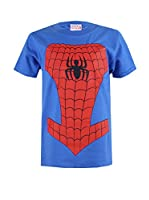 ZZ-Marvel Camiseta Manga Corta Spiderman Costume (Azul Royal)