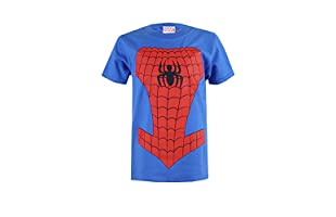 MARVEL Camiseta Manga Corta Spiderman Costume (Azul Royal)