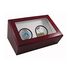Heiden Design Dual Watch Winder - Cherry Wood