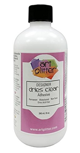 Art Glitter Dries Clear Adhesive Glue 8 Ounce Refill Bottle