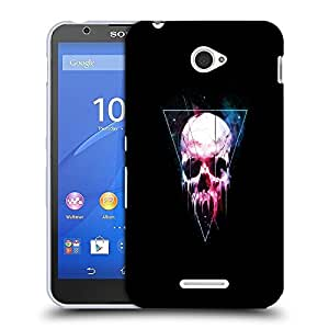 Snoogg Triangle Skull Designer Protective Back Case Cover For SONY XPERIA E4