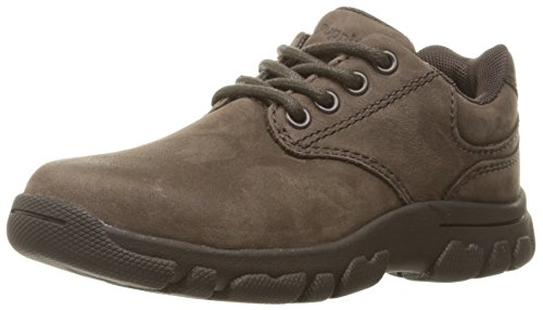 Hush Puppies Chad Dress Shoe (Little Kid/Big Kid), Brown Nubuck, 4.5 W US Big Kid (Hush Puppies Shoes Kids compare prices)