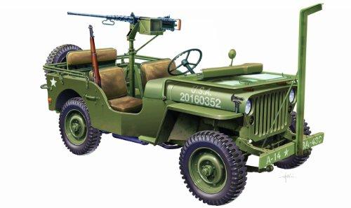 Imagen principal de Italeri 6351S Willys Jeep - Maqueta de jeep 4x4 con ametralladora M2 (escala 1:24)