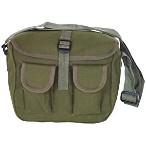 Canvas Ammo Military Shoulder Bag - Olive