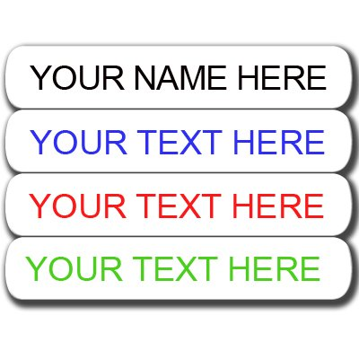 Iron on Clothing Labels - Qty100 - Personalized with Your Name! Your Choice of Ink Color. Black - Red - Blue - Green