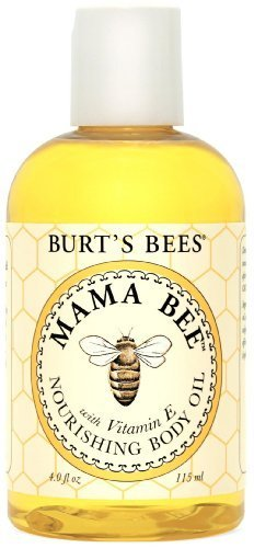Burt's Bees Mama Bee Nourishing Baby Oil with Vitamin-E, 4 Fluid Ounces (Pack of 3)
