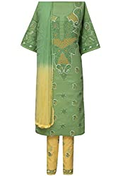 ADA Traditional Ethnic Needlecraft Embroidered Suit Piece For Women A92793
