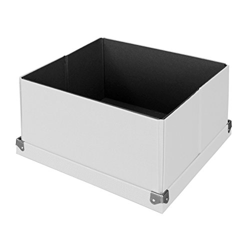 """Pop n' Store Decorative Storage Box with Lid - Collapsible and Stackable- Medium Square Box - White - 9.75""""x9.75""""x5.75"""""""