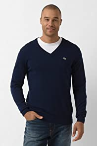 Cotton Jersey V-Neck Sweater