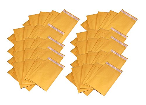 iMBAPrice #000 4 X 8 Kraft Bubble Mailers Padded Envelopes, Total 50 Envelope (Padded Mailing Envelopes compare prices)