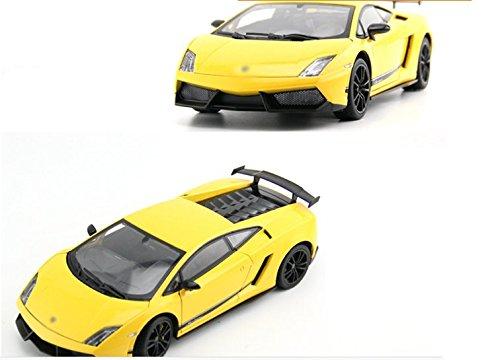 Tourwin Toy car 1:18 Lamborghini Gallardo simulation Yellow Static Car Model Collection Decoration Alloy children's toys doors can open