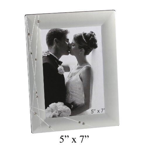 Personalised Silver and Diamante Photo Frame 5