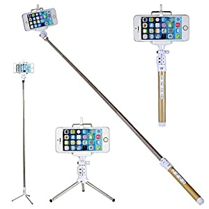 coolead multi function bluetooth remote camera blue tooth selfie stick with remote. Black Bedroom Furniture Sets. Home Design Ideas