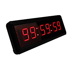 1.5'' 6Digits LED Countdown Wall Clock Escape Room Public Talk Church Timer