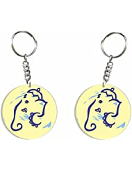 Ganesh Chaturthi Special 7 (Ganesha Outline) Key Chain By Iberrys