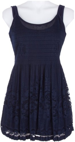 41L3tRUmtLL ^ Skyes The Limit La Isla Bonita Lace Dress NAVY X Large Get Rabate
