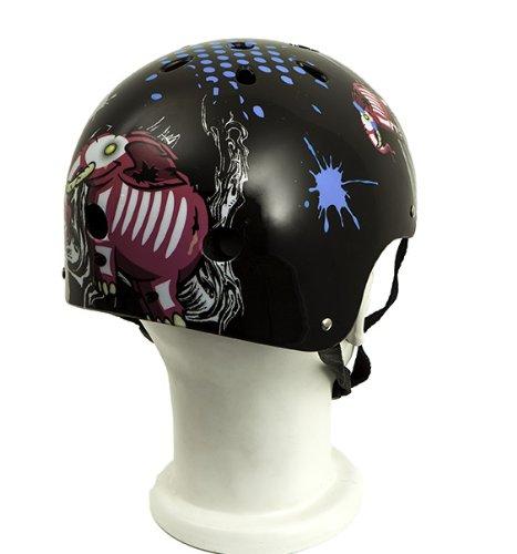 Punisher-Skateboards-Elephantasm-11-vent-Skateboard-Helmet-Youth-Size-Medium-Black