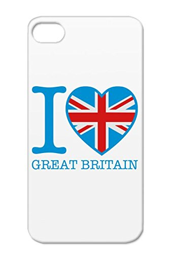 Queen Countries Flags Cities Big Ben Flag Great Britain Heart I Love Scotland Banner London England Navy Cover Case For Iphone 4/4S I Great Britain Design C3