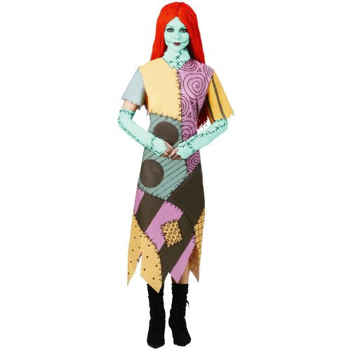 Disguise Women's Disney Nightmare Before Christmas Sally Classic Costume, Yellow/ Red/ Black/ Green, X-Large